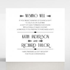 Art Deco Romance gift registry invitation card