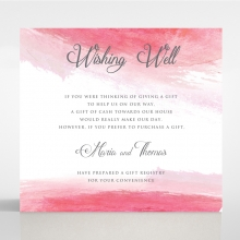 At Sunset wedding wishing well invite card