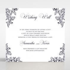 Baroque Romance wedding wishing well card design