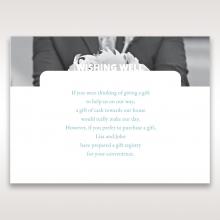 Beautiful Romance wedding gift registry invitation card design