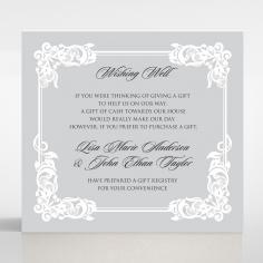 Black Divine Damask wedding stationery wishing well enclosure card