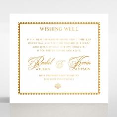Black Doily Elegance with Foil gift registry invitation