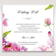 Black Framed Floral Pocket wedding stationery wishing well card design