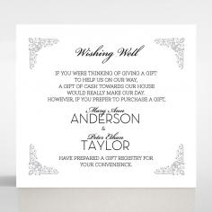 Black on Black Victorian Luxe gift registry wedding card design
