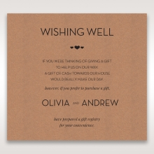 Blissfully Rustic  Laser Cut Wrap wishing well invite
