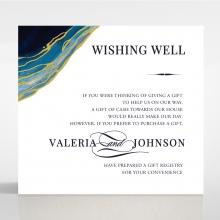 Blue Aurora gift registry invitation card design