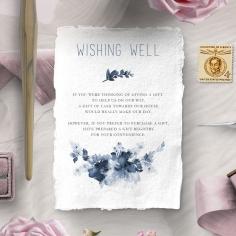 Blue Wonderland wedding wishing well invitation