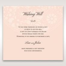 Blush Blooms wedding gift registry invitation card
