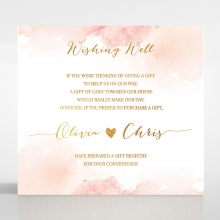 Blushing Rouge with Foil wedding wishing well invitation card design