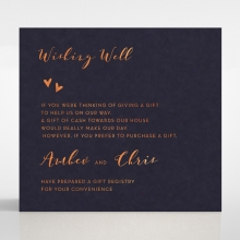 Bohemia gift registry enclosure stationery invite card