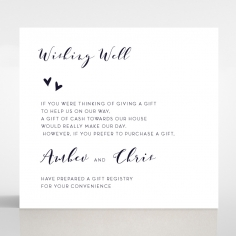 Bohemia wishing well wedding invite card design