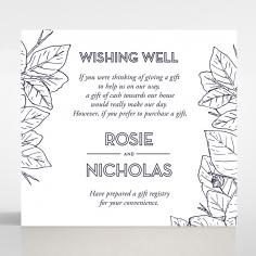 Botanical Canopy wishing well invite card design