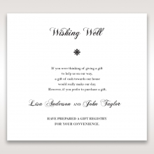 Bouquet of Roses wedding stationery gift registry enclosure card