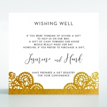 Breathtaking Baroque Foil Laser Cut wishing well invite card