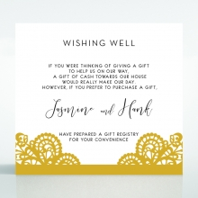 Breathtaking Baroque Foil Laser Cut wishing well invite card design