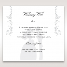 Bridal Romance wedding gift registry invite