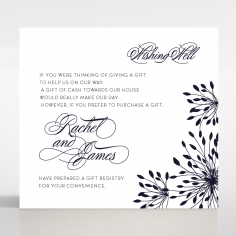 Bursting Bloom wedding stationery gift registry card