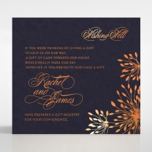 Bursting Bloom wedding stationery wishing well invite card