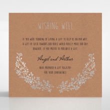 Charming Garland wedding stationery wishing well invite card