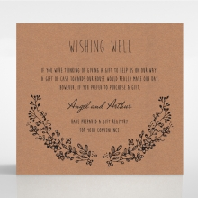Charming Garland wedding stationery wishing well invite