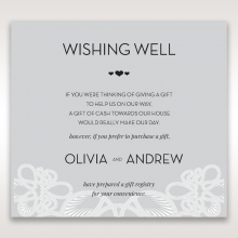 Charming Rustic Laser Cut Wrap wedding stationery wishing well enclosure card