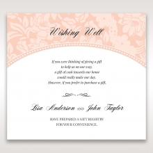 Classic Laser Cut Floral Pocket wedding wishing well enclosure card design
