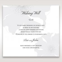 Classic Shimmering Flower wedding gift registry card design