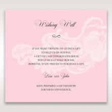 Classic White Laser Cut Floral Pocket gift registry wedding card design