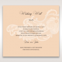 Classic White Laser Cut Sleeve gift registry card