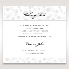 Contemporary Celebration wishing well stationery card