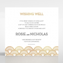 Contemporary Glamour wedding stationery gift registry card design