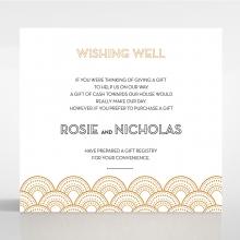 Contemporary Glamour wedding stationery gift registry invitation