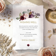 Contemporary Love wishing well enclosure invite card