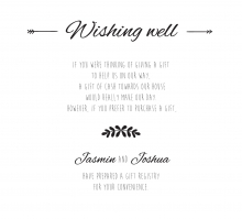 Country Lace Pocket wishing well enclosure invite card design