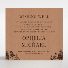 Delightful Forest Romance wishing well stationery card