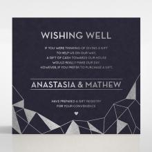 Digital Love gift registry enclosure invite card