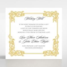 Divine Damask wedding stationery wishing well invite