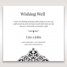 Elegant Crystal Black Lasercut Pocket wishing well enclosure stationery invite card