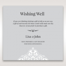 Elegant Crystal Lasercut Pocket wishing well stationery invite card
