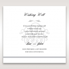 Elegant Seal wedding wishing well enclosure invite card design