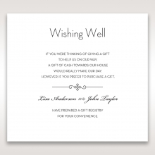 Embossed Date wedding wishing well enclosure invite card