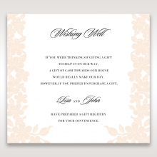 Embossed Floral Frame wedding stationery wishing well enclosure card design