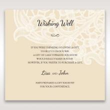 Embossed Floral Pocket wedding stationery gift registry enclosure card