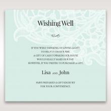 Embossed Gatefold Flowers wedding stationery gift registry invite