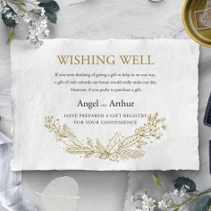Enchanted Wreath wedding stationery gift registry invite