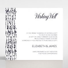 Enchanting Halo wishing well wedding card design