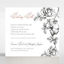 English Rose wedding stationery wishing well enclosure invite card