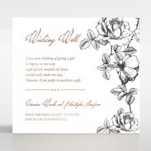 English Rose wedding stationery wishing well enclosure invite card design