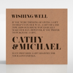 Etched Cork Letter wishing well stationery card design