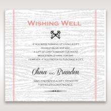 Eternity wishing well stationery invite card design